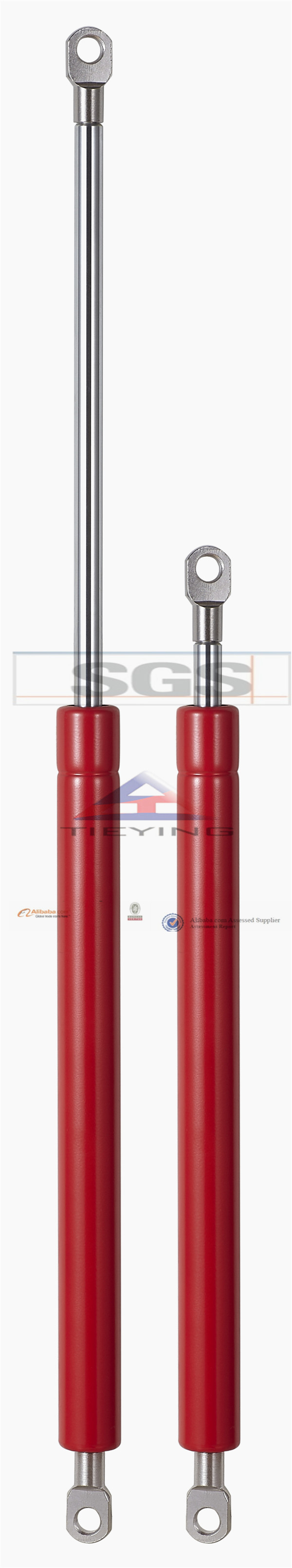 Cylinder Style Furniture Gas Struts For Bed Gas Spring Lift Supports
