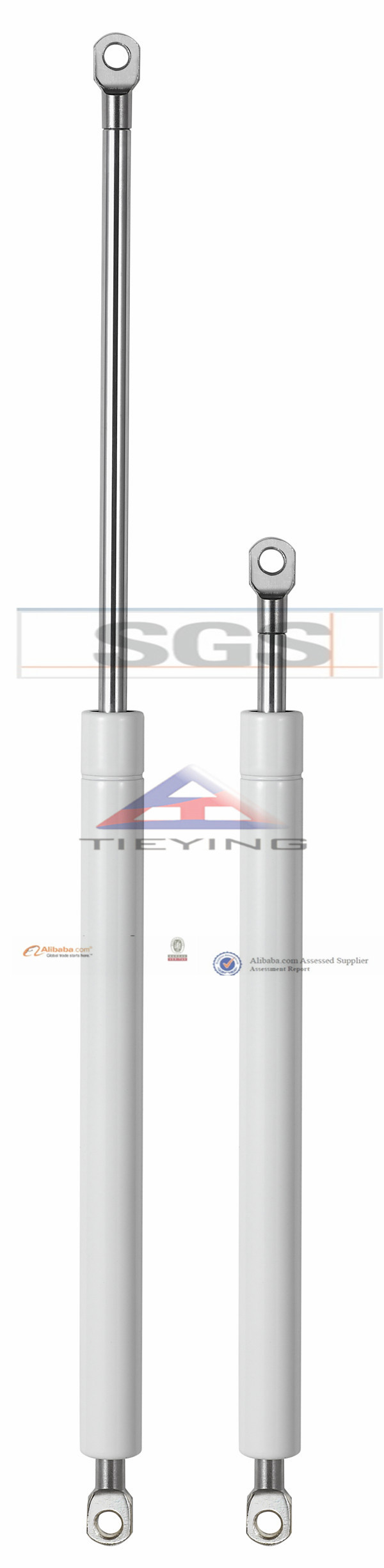 Cylinder Nitrogen Spring For Wall Bed Gas Strut 580mm Extended Length