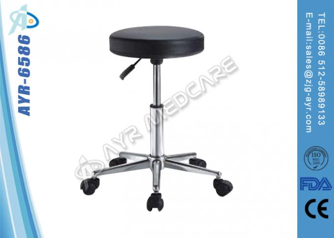 Stainless Steel Hospital Bed Accessories Gas Spring Hospital Patient Stool