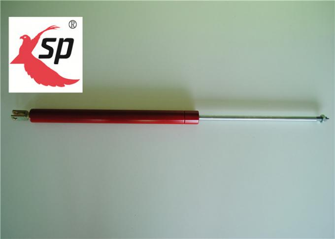 Red Color Custom made Lockable Adjustable Gas Spring With Clevis CE ROHS FCC SGS 1